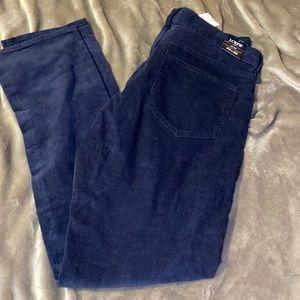 J.Crew Slim Fit Flex Cord Pants•Navy Blue• 33x32